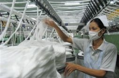 Import duties on combed cotton increased from 0 to 10 percent