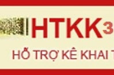 Barcode tax declaration support application (HTKK 3.3.1)