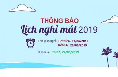 Thông báo lịch nghỉ mát hè 2019_Asiasoft HN
