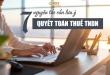 7 Nguyên tắc khi Quyết Toán Thuế TNDN cần lưu ý