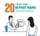 20 lỗi kế toán thường gặp nhưng bị phạt nặng theo Nghị định 41