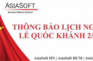 Asiasoft thông báo lịch nghỉ lễ Quốc Khánh 02/09/2021