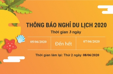 Thông báo lịch nghỉ mát hè 2020 tại Asiasoft Hà Nội