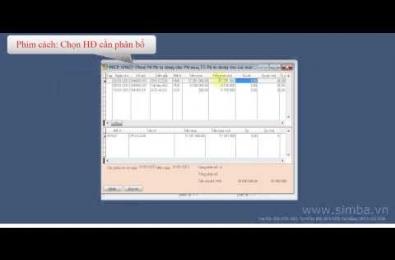 Hướng dẫn sử dụng phần mềm Simba: Phân bổ chi phí mua hàng